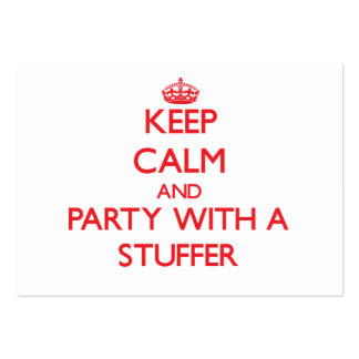 Keep Calm and Party With a Stuffer Large Business Cards (Pack Of 100)