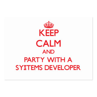 Keep Calm and Party With a Systems Developer Business Card Template
