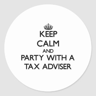 Keep Calm and Party With a Tax Adviser Sticker