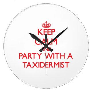 Keep Calm and Party With a Taxidermist Wall Clocks