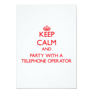 Keep Calm and Party With a Telephone Operator Personalized Announcement