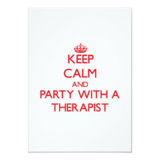 Keep Calm and Party With a Therapist Personalized Invite