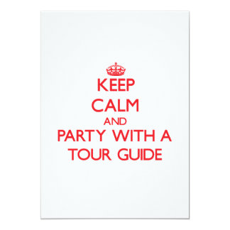 Keep Calm and Party With a Tour Guide Invites