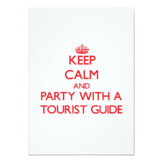 Keep Calm and Party With a Tourist Guide Invite