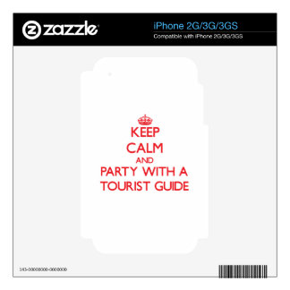 Keep Calm and Party With a Tourist Guide Decals For The iPhone 3GS