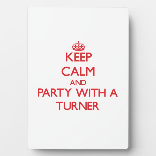 Keep Calm and Party With a Turner Photo Plaque