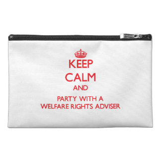 Keep Calm and Party With a Welfare Rights Adviser Travel Accessories Bag