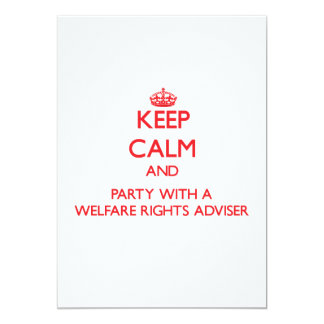 Keep Calm and Party With a Welfare Rights Adviser Personalized Invites