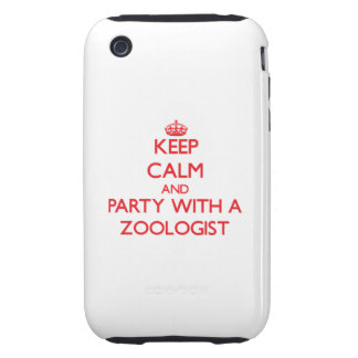 Keep Calm and Party With a Zoologist iPhone 3 Tough Cases