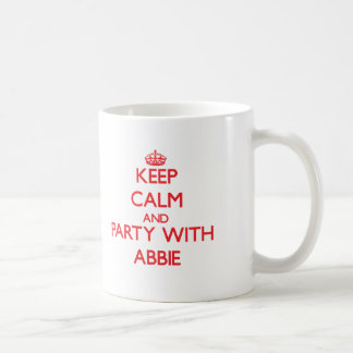 Keep Calm and Party with Abbie Classic White Coffee Mug