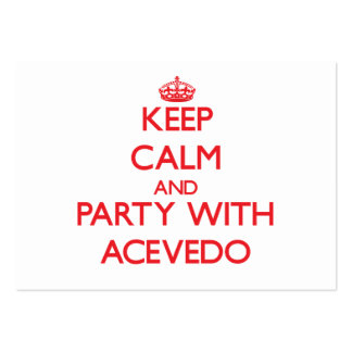 Keep calm and Party with Acevedo Business Card Templates