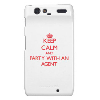 Keep Calm and Party With an Agent Droid RAZR Case