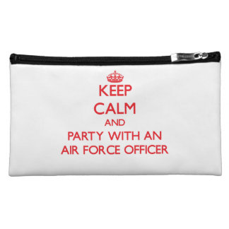Keep Calm and Party With an Air Force Officer Makeup Bag