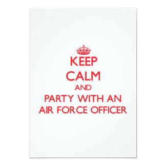 Keep Calm and Party With an Air Force Officer Card