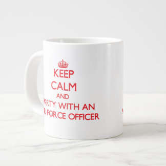 Keep Calm and Party With an Air Force Officer Extra Large Mugs