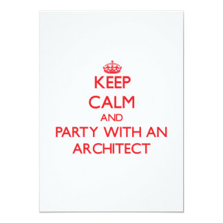 Keep Calm and Party With an Architect Personalized Invites