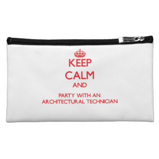 Keep Calm and Party With an Architectural Technici Makeup Bags