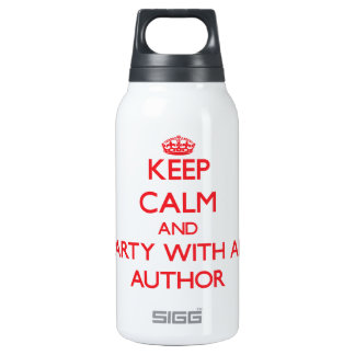 Keep Calm and Party With an Author 10 Oz Insulated SIGG Thermos Water Bottle