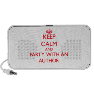 Keep Calm and Party With an Author Portable Speakers