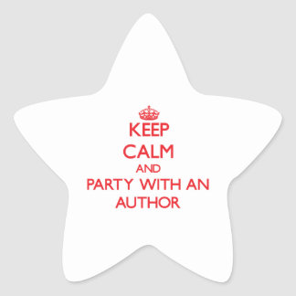 Keep Calm and Party With an Author Star Stickers