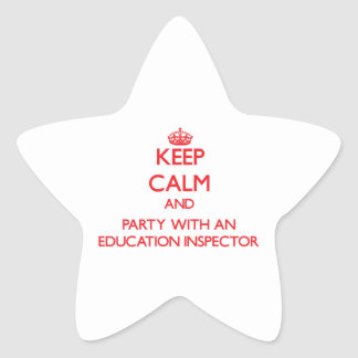 Keep Calm and Party With an Education Inspector Sticker