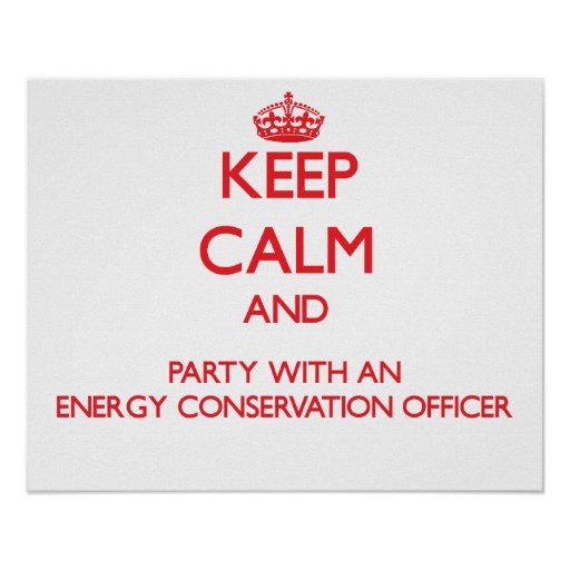 Keep Calm and Party With an Energy Conservation Of Posters