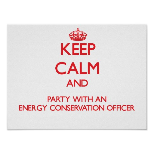 Keep Calm and Party With an Energy Conservation Of Poster