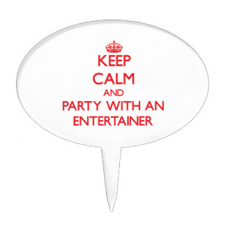 Keep Calm and Party With an Entertainer Cake Toppers