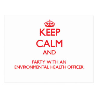 Keep Calm and Party With an Environmental Health O Postcards
