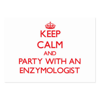 Keep Calm and Party With an Enzymologist Business Card