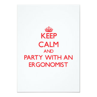 Keep Calm and Party With an Ergonomist Personalized Invitations