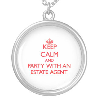 Keep Calm and Party With an Estate Agent Custom Necklace