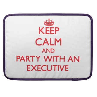 Keep Calm and Party With an Executive Sleeve For MacBooks