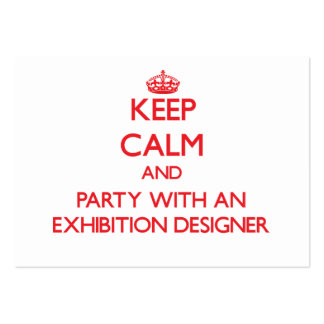 Keep Calm and Party With an Exhibition Designer Business Card