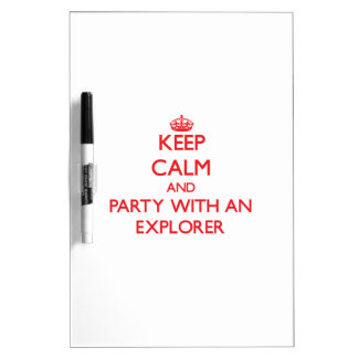 Keep Calm and Party With an Explorer Dry Erase Boards