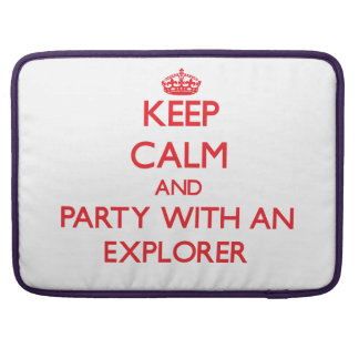 Keep Calm and Party With an Explorer Sleeve For MacBooks