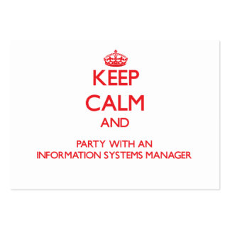 Keep Calm and Party With an Information Systems Ma Business Card Templates