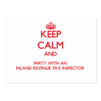 Keep Calm and Party With an Inland Revenue Tax Ins Business Cards