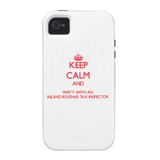 Keep Calm and Party With an Inland Revenue Tax Ins iPhone 4/4S Cover
