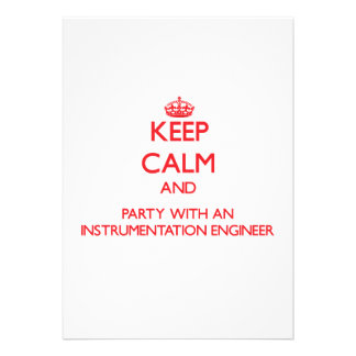 Keep Calm and Party With an Instrumentation Engine Custom Announcement