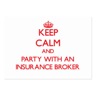 Keep Calm and Party With an Insurance Broker Business Card Template