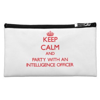 Keep Calm and Party With an Intelligence Officer Makeup Bags