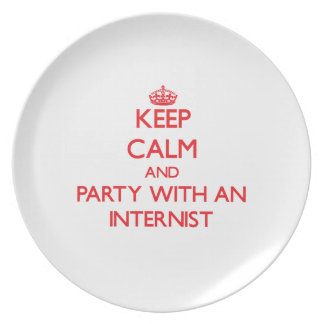 Keep Calm and Party With an Internist Party Plates