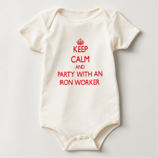 Keep Calm and Party With an Iron Worker Baby Bodysuit