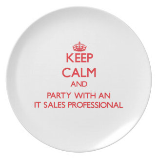 Keep Calm and Party With an It Sales Professional Plate