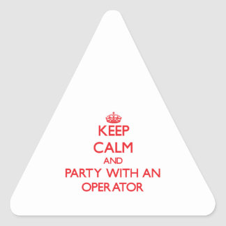 Keep Calm and Party With an Operator Sticker