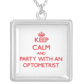Keep Calm and Party With an Optometrist Pendant