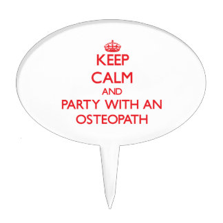 Keep Calm and Party With an Osteopath Cake Topper