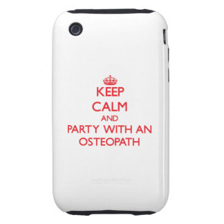 Keep Calm and Party With an Osteopath Tough iPhone 3 Covers