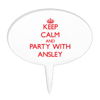 Keep Calm and Party with Ansley Cake Topper